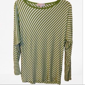✂️Michael Kors diagonal striped long sleeve top